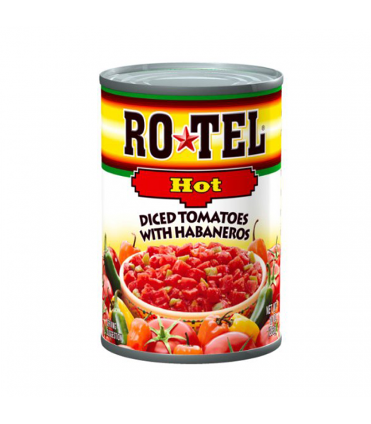 Rotel Hot Diced Tomatoes With Habaneros 10oz (284g) Tinned Groceries