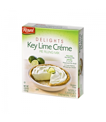 Royal Delights Key Lime Creme Pie Filling Mix 4.34oz (123g) Baking & Cooking