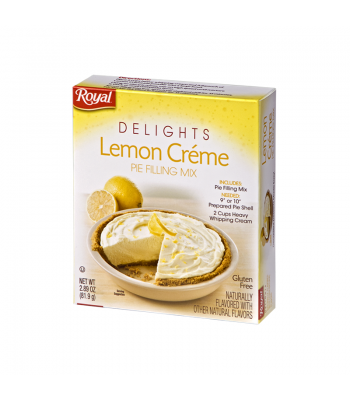 Royal Delights Lemon Creme Pie Filling Mix 2.89oz (81.9g) Food and Groceries Royal