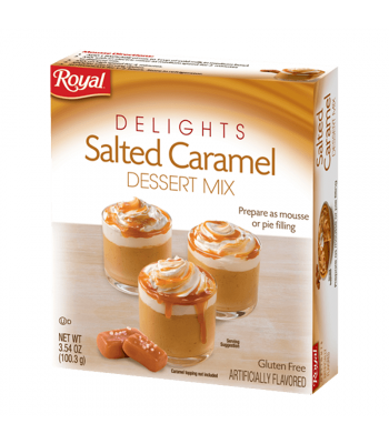 Royal Delights Salted Caramel Dessert Mix 3.54oz (100.3g) Food and Groceries