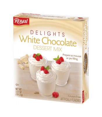 Royal Delights White Chocolate Dessert Mix 3.57oz (101.3g) Food and Groceries Royal