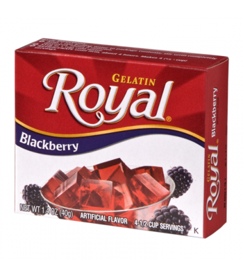 Royal Gelatin - Blackberry - 1.4oz (40g) Food and Groceries