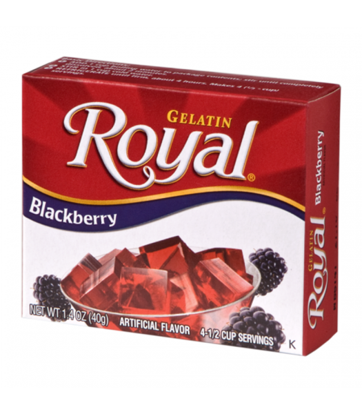 Royal Gelatin - Blackberry - 1.4oz (40g) Food and Groceries Royal