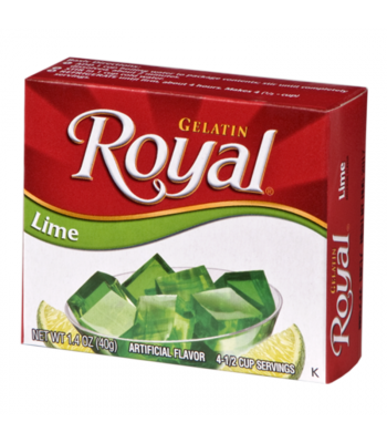 Royal Gelatin - Lime - 1.4oz (40g) Food and Groceries