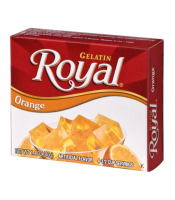 Royal Gelatin - Orange - 1.4oz (40g) Food and Groceries