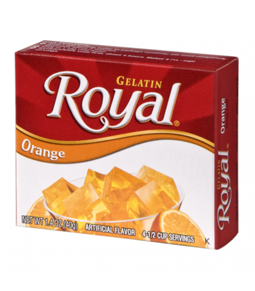 Royal Gelatin - Orange - 1.4oz (40g) Food and Groceries
