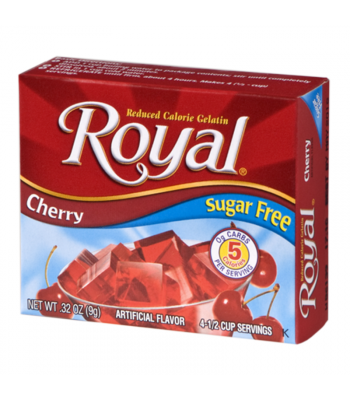 Royal Gelatin Sugar Free - Cherry - 0.32oz (9g) Food and Groceries Royal