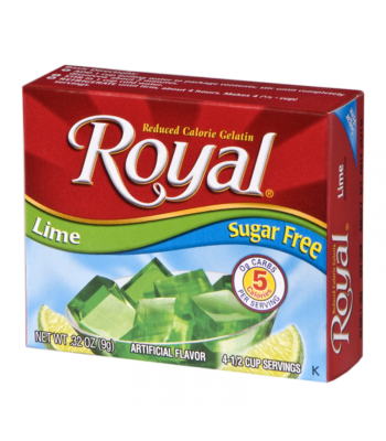 Royal Gelatin Sugar Free - Lime - 0.32oz (9g) Food and Groceries