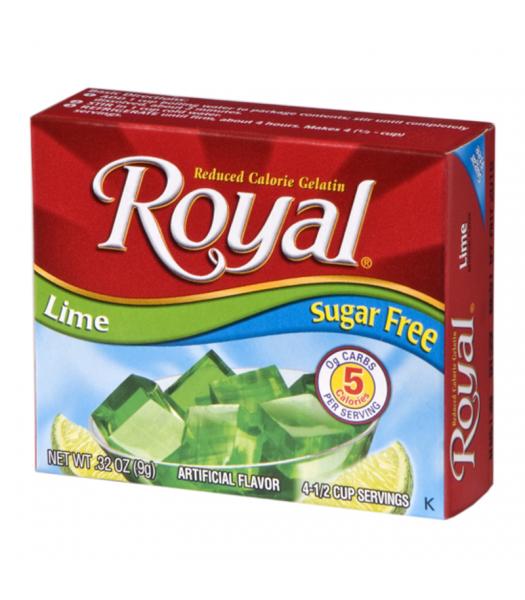 Royal Gelatin Sugar Free - Lime - 0.32oz (9g) Food and Groceries
