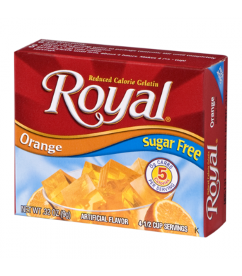 Royal Gelatin Sugar Free - Orange - 0.32oz (9g) Food and Groceries