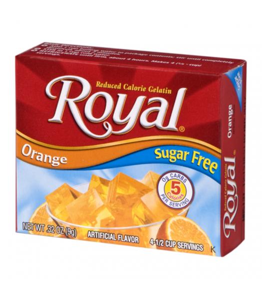 Royal Gelatin Sugar Free - Orange - 0.32oz (9g) Food and Groceries Royal