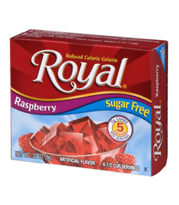 Royal Gelatin Sugar Free - Raspberry - 0.32oz (9g) Food and Groceries Royal