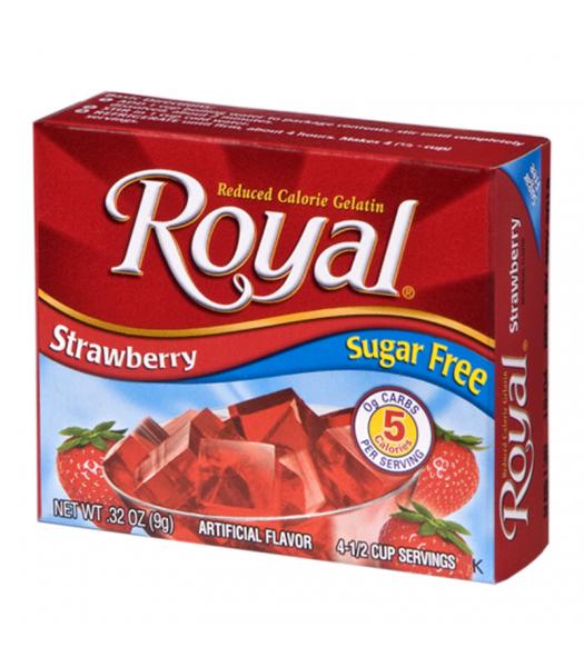 Royal Gelatin Sugar Free - Strawberry - 0.32oz (9g) Food and Groceries Royal
