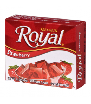 Royal Gelatin - Strawberry - 1.4oz (40g) Food and Groceries