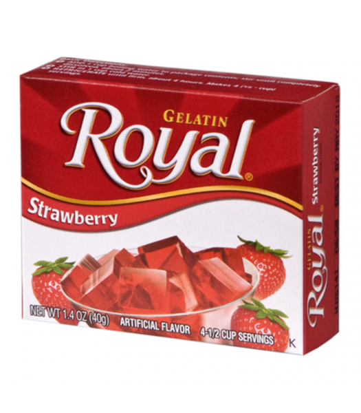 Royal Gelatin - Strawberry - 1.4oz (40g) Food and Groceries Royal