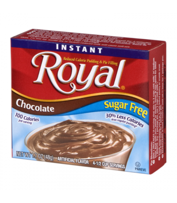 Royal Pudding Sugar Free - Chocolate - 1.7oz (48g) Food and Groceries