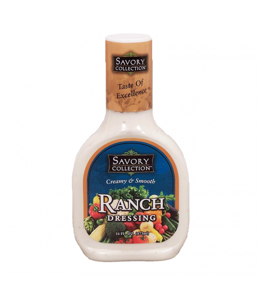 Savory Collection Creamy & Smooth Ranch Dressing 16fl.oz (473ml) Food and Groceries Savory Collection