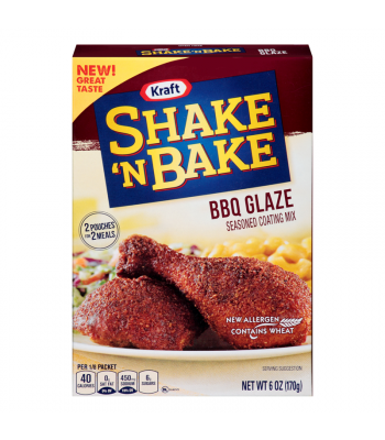 Shake 'N Bake BBQ Glaze Seasoned Coating Mix - 6oz (170g) Food and Groceries Kraft