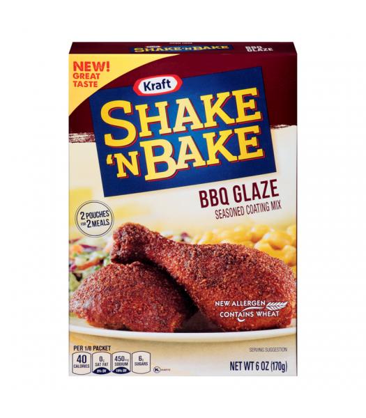 Shake 'N Bake BBQ Glaze Seasoned Coating Mix - 6oz (170g) Food and Groceries Kraft