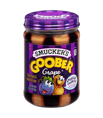 Smuckers Goober Grape Peanut Butter Jelly Stripes 18oz (510g) Peanut Butter & Spreads Smucker's