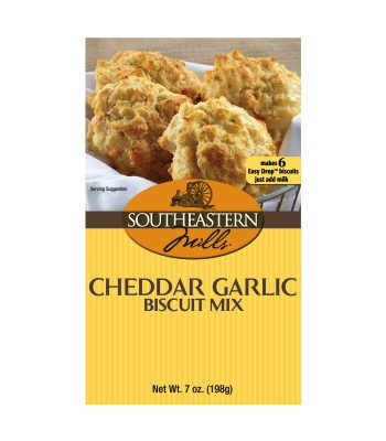 Southeastern Mills Cheddar Garlic Biscuit Mix 7oz (198g) Food and Groceries