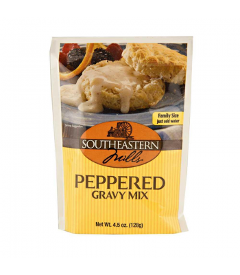 Southeastern Mills Peppered Gravy Mix 4.5oz (128g) Food and Groceries