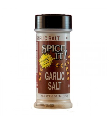 Spice It Family Size Garlic Salt - 6oz (170g) Food and Groceries Spice It