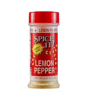 Spice It Family Size Lemon Pepper - 5.5oz (156g) Food and Groceries