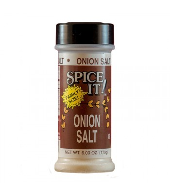 Spice It Family Size Onion Salt - 6oz (170g) Food and Groceries Spice It