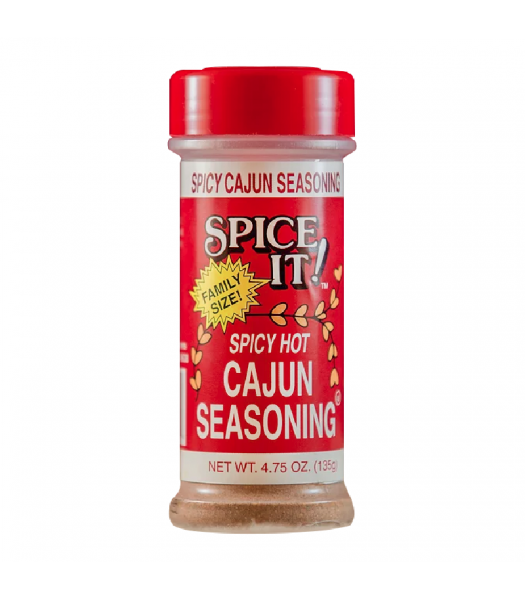Spice It Family Size Spicy Hot Cajun Seasoning - 4.75oz (135g) Food and Groceries Spice It
