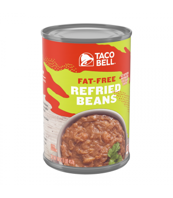 Taco Bell Fat-Free Refried Beans - 16oz (453g) Food and Groceries Taco Bell