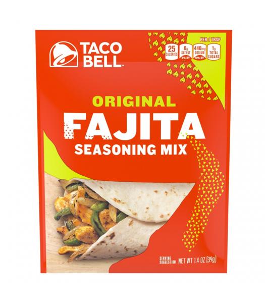 Taco Bell Original Fajita Seasoning Mix - 1.4oz (39g) Food and Groceries Taco Bell
