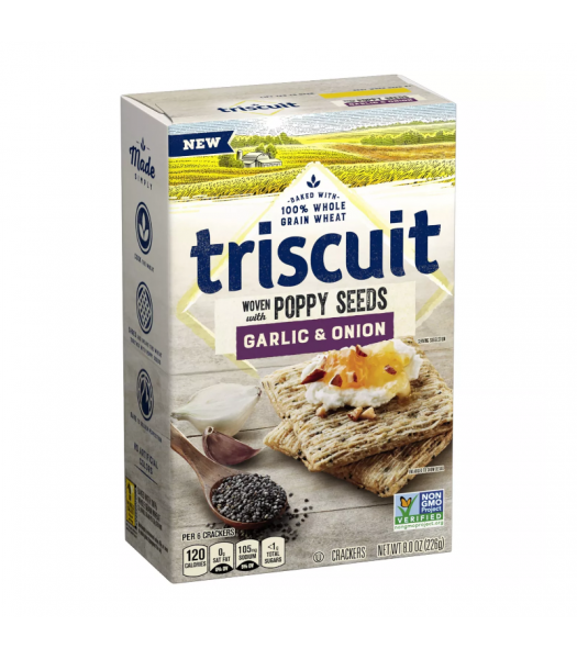 Triscuit Garlic & Onion Crackers - 8oz (226g) Snacks and Chips