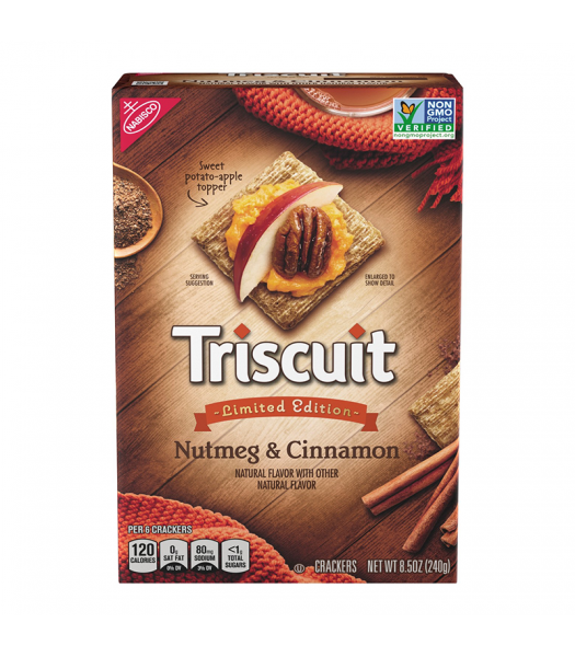 Triscuit Nutmeg & Cinnamon 8.5oz (240g) Snacks and Chips