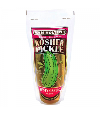 Van Holten's - Jumbo Kosher Pickle In-a-Pouch Zesty Garlic