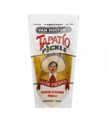 Van Holtens Jumbo Tapatio Pickle In-a-Pouch Snacks and Chips Van Holten's