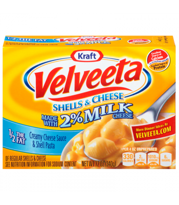 Velveeta Shells & Cheese made with 2% Milk Cheese (Light) 12oz (340g) Pasta & Noodles Kraft