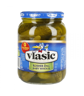 Vlasic Kosher Whole Baby Dill Pickles 32oz (946ml) Food and Groceries Vlasic