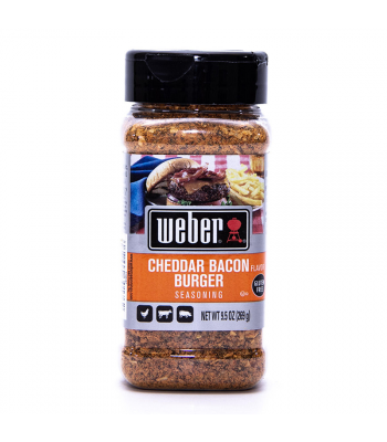 Weber Cheddar Bacon Burger Seasoning - 9.5oz (269g) Food and Groceries