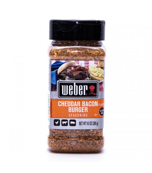 Weber Cheddar Bacon Burger Seasoning - 9.5oz (269g) Food and Groceries