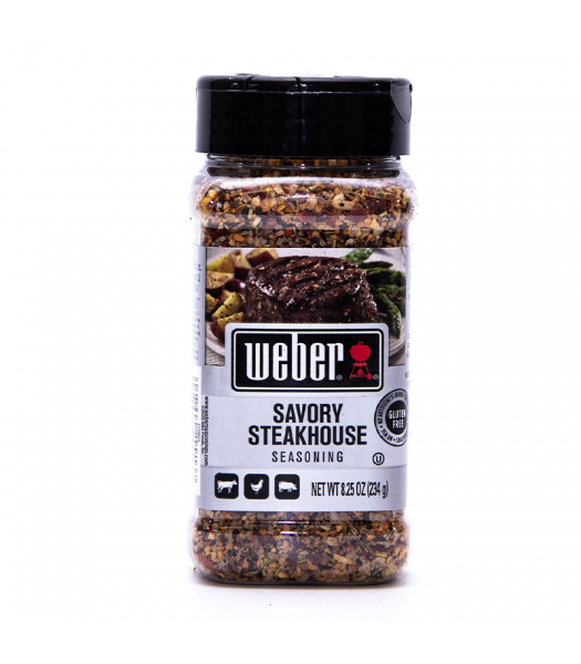 Weber Savory Steakhouse Seasoning - 8.25oz (234g)  Food and Groceries