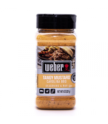 Weber Tangy Mustard Carolina BBQ Seasoning & Rub - 8oz (227g) Food and Groceries