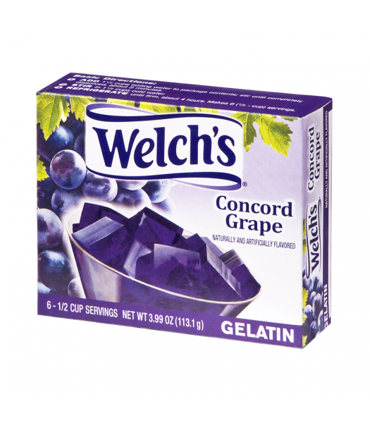 Welch's Concord Grape Gelatin 3.99oz (113.1g) Jelly & Puddings Welch's