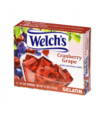 Welch's Cranberry Grape Gelatin 4.1oz (116.3g) Jelly & Puddings Welch's