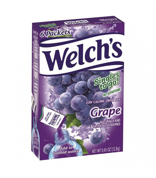 Welch's Singles to go! Grape 0.45oz (28g)  Drink Mixes Welch's