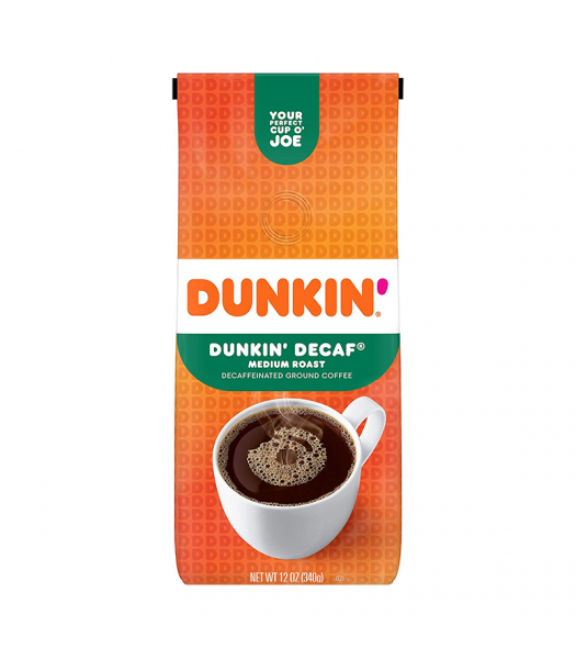 Dunkin Donuts Decaf Ground Coffee - 12oz (340g) Soda and Drinks Dunkin' Donuts