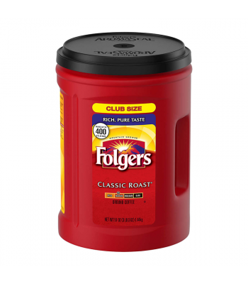 Folgers Classic Roast Coffee - 51oz (1.4kg) Soda and Drinks