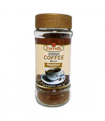 Forrelli Instant Coffee Hazelnut 2.82oz (80g) Soda and Drinks