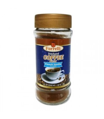 Forrelli Instant Coffee French Vanilla 2.82oz (80g) Soda and Drinks