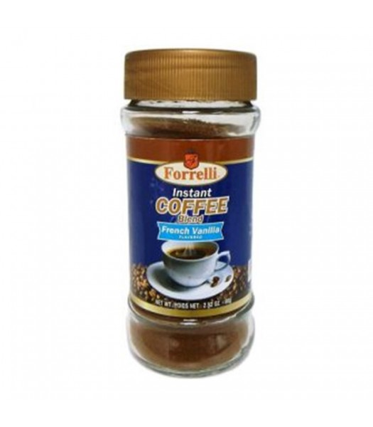 Forrelli Instant Coffee French Vanilla 2.82oz (80g) Soda and Drinks